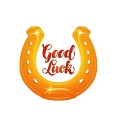 Golden horseshoe for luck vector image vector image