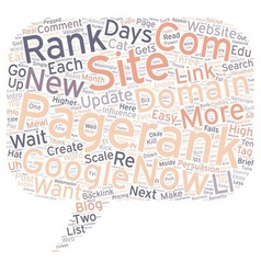 How To Get A Pagerank In Days text background vector image