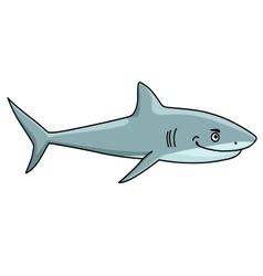 Smiling ferocious shark vector image vector image