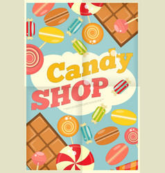 19 candy shop poster vector image