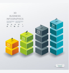 3d design of business chart for documents and vector