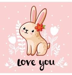a cute rabbit vector image