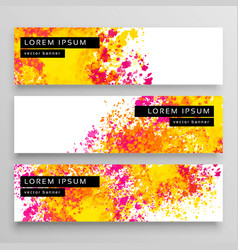 abstract watercolor web banner design background vector image