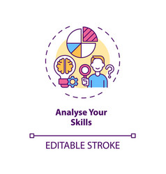 Analyse your skills concept icon vector