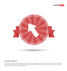 Arrow icon - red ribbon banner vector