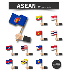 asean association of southeast asian nations vector image