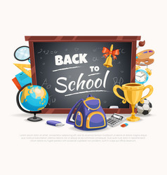 Back to school composition poster vector