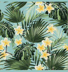 beautiful seamless floral pattern background vector image