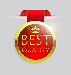 Best quality golden badge vector