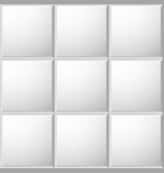 beveled ceramic tiles pattern vector image