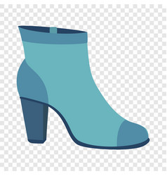 blue woman shoe icon flat style vector image
