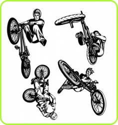 BMX bike vector image