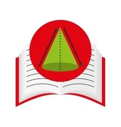 book school with education icon vector image