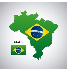 brazil country map vector image