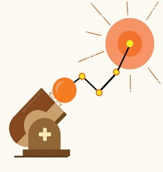 Business Graph success cannonball vector image