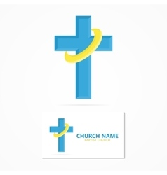 Christian church logo design vector