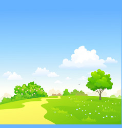 country pathway vector image