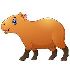 cute capybara cartoon vector image
