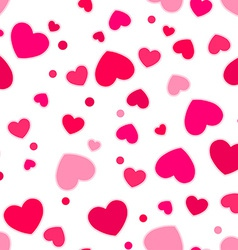 Cute pink and red hearts vector image