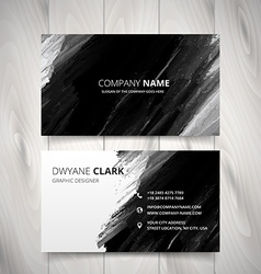 dark black watercolor business card design vector image