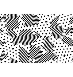 Diffusion reaction seamless pattern black and vector