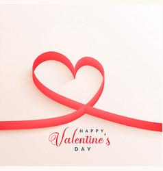 elegant valentines day ribbon hearts background vector image
