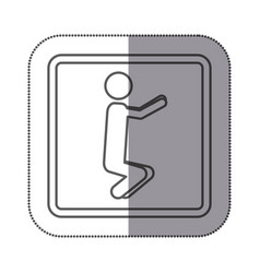 Figure person doing squats icon vector
