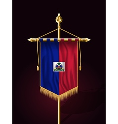 Flag of Haiti Festive Vertical Banner vector