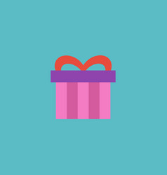 flat icon gift element of vector image vector image