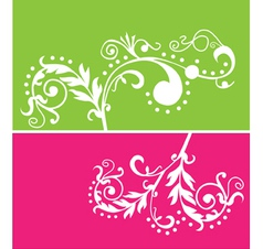 floral vines vector image