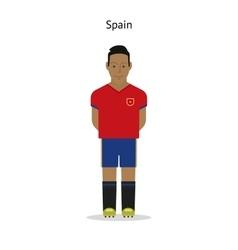 Football kit Spain vector