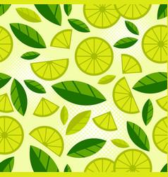 fruit seamless pattern juicy slice piece lemon vector image