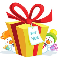 funny christmas gift isolated on white background vector image
