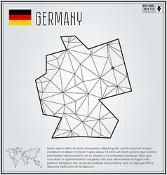 Germany map in geometric polygonal style Polygonal vector