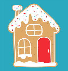 Gingerbread house christmas traditional dessert vector