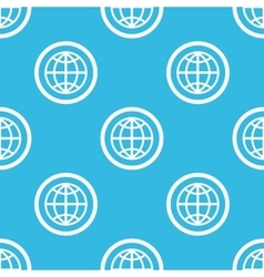 Globe sign blue pattern vector