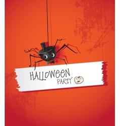Halloween spiders vector image
