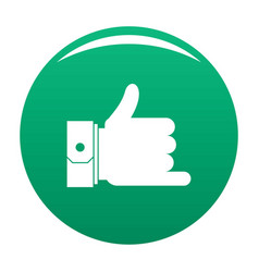 hand call icon green vector image