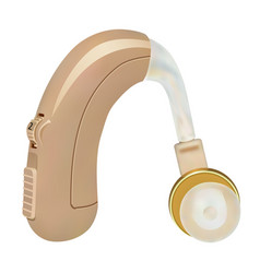 Hearing aid behind the ear sound amplifier for vector