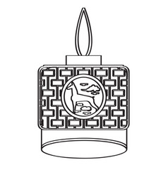 isolated asian ornament vector image