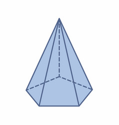 isolated pentagonal pyramid vector image