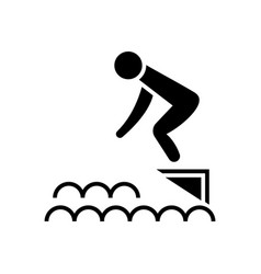 jump in water - swimming pool icon vector image