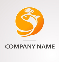 Logo goldfish vector