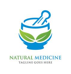 Logo herbal concoction vector
