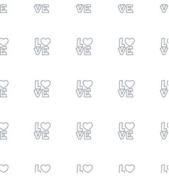 love word icon pattern seamless white background vector image