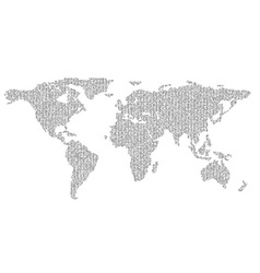 map of planet earth consisting of binary code vector image