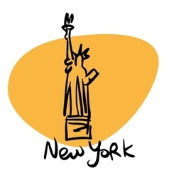 new york usa statue liberty vector image