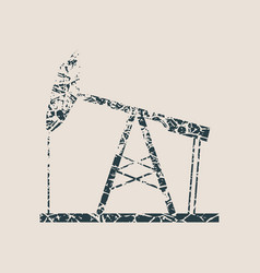 oil pump grunge icon vector image