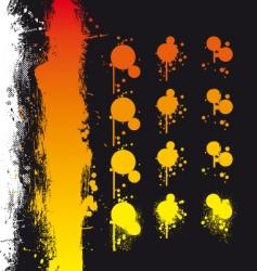 Paint spray elements vector