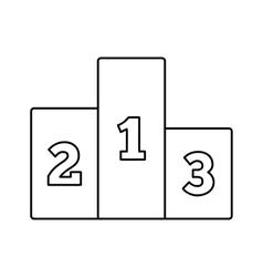 Pedestal line icon vector